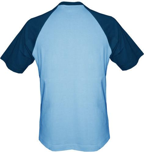 t-shirt Baseball dowolny tekst- jasnoniebieski-granat