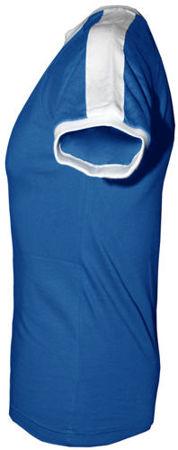 t-shirt Fit slim z własnym nadrukiem Niebieski