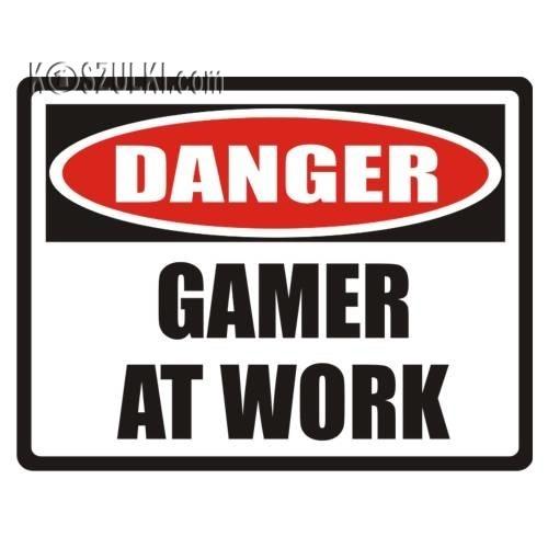 T-shirt Gamer at work