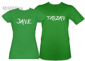 Koszulki dla pary-Zestaw Tarzan i Jane
