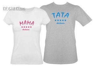 Koszulki dla pary-Zestaw koszulka damska i t-shirt rodzice deluxe