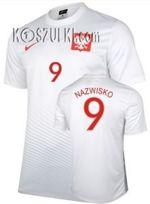 5c1617af6 Oryginalna Koszulka Reprezentacji Polski Nike Euro 2016 Home Biała  Supporters Tee Nazwisko