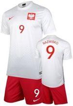 6e63adc5f Strój kibica Reprezentacji Polski Nike Poland Koszulka i spodenki -własny  numer i nazwisko-
