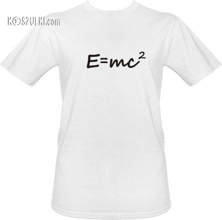 5e945c261 T-shirt E=mc2 Biały | Męskie \ Śmieszne Koszulki \ Szkoła na Wesoło ...