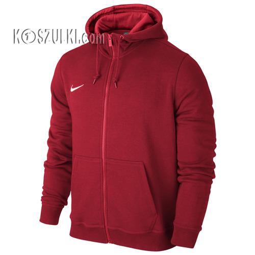 Bluza Nike Team Club Full Zip Hoody czerwona 658497 657
