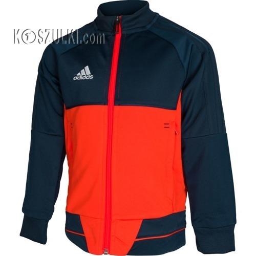 Bluza adidas REPREZENTACYJNA TIRO 17 junior czarno-pomarańczowa BQ2614