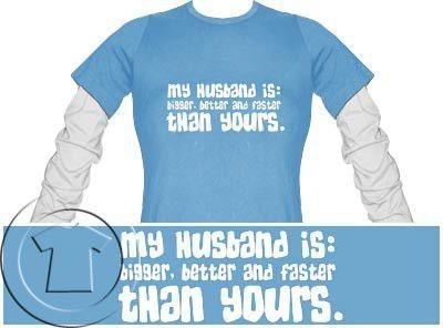 Bluza damska przedłużony rękaw My husband