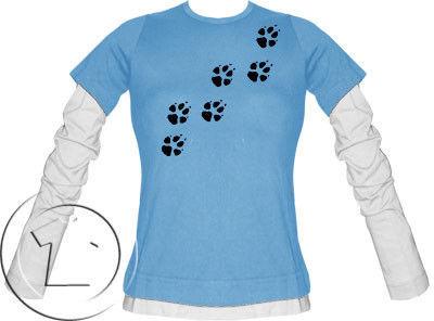 Bluza damska przedłużony rękaw Psie łapki