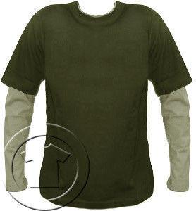 Bluza męska przedłużony rękaw Khaki -Beż