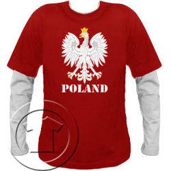 Bluza męska Orzeł z nadrukiem  przedłużony rękaw – Poland