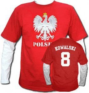 Bluza męska przedłużony rękaw  ORZEŁ  Polska + NAZWISKO + NUMER