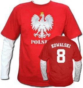 Bluza męska przedłużony rękaw Orzeł Polska Nazwisko i numer