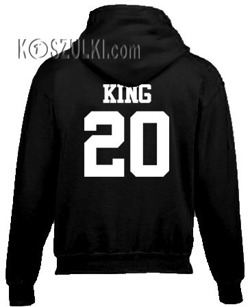Bluza z kapturem King + Twój numer