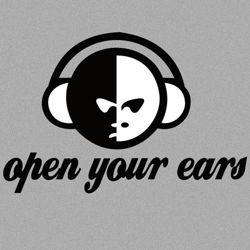 Bluza z kapturem  Open your ears SZARA