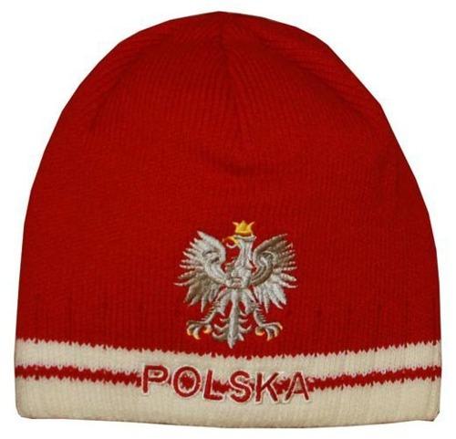 Czapka Zimowa Polska Orzeł Czerwona