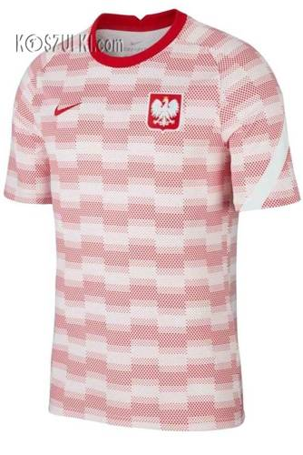Koszulka Nike Polska treningowa przedmeczowa  M BRT Top SS PM CV0557 100