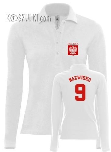 Koszulka Polo dlugi rękaw- Damska- Nazwisko i numer