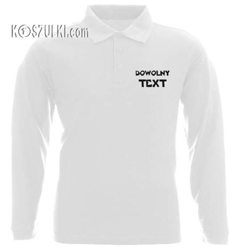 Koszulka Polo długi rękaw- Dziecko-z własnym nadrukiem