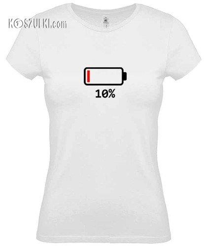Koszulka damska  Bateria 10%