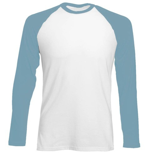Longsleeve męski biało-jasnoniebieski