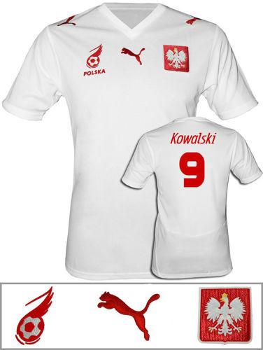 Oryginalna koszulka Puma Polska Biała Polska własne nazwisko