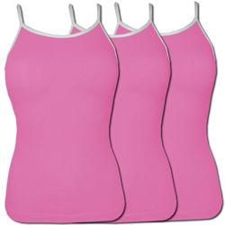 Pakiet 3 sztuk Top damski Różowy Ramiączka