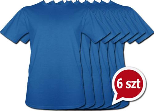 Pakiet 6 sztuk T-Shirt - NIEBIESKI