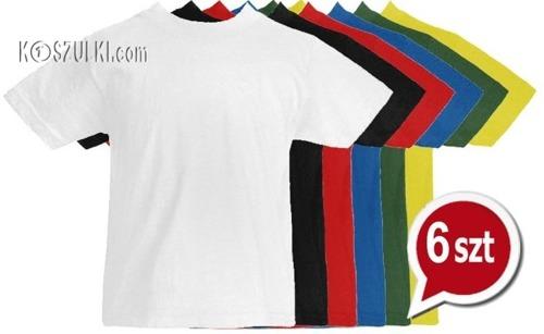 Pakiet 6 sztuk T-Shirt dziecięcy- Wybierz kolory