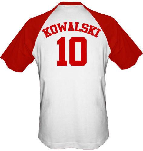 T-shirt Baseball Polska + własne nazwisko Biało-Bordowy