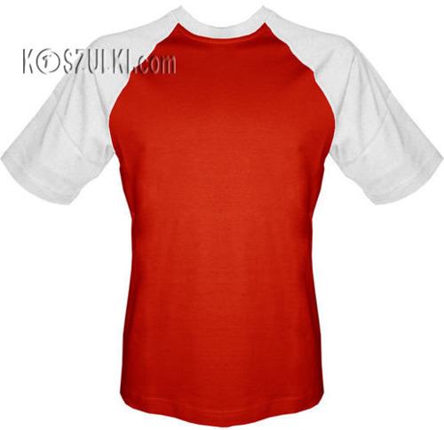 T-shirt Baseball czerwono-biały