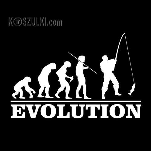 T-shirt Ewolucja Wędkarz