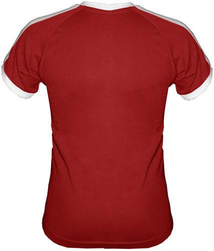 T-shirt Fit Swiss-Krzyżyk Czerwony