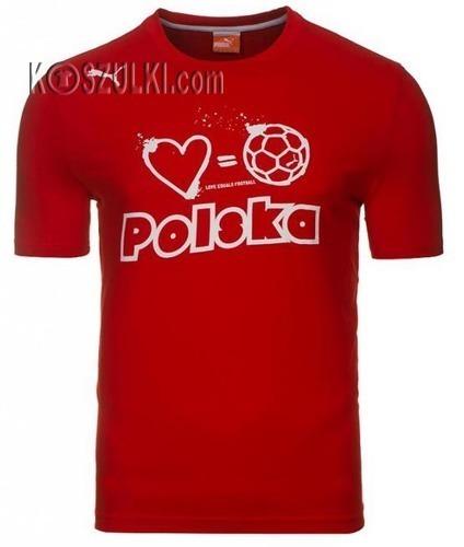 T-shirt Puma Polska Football czerwony