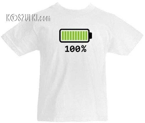 T-shirt dziecięcy Bateria 100%