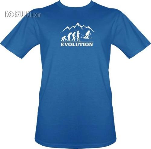 T-shirt ewolucja Narty
