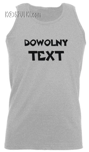 T-shirt męski na ramiączka z własnym nadrukiem