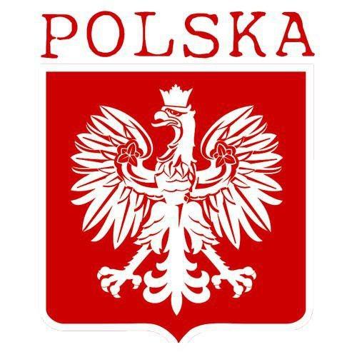 T-shirt v-Neck POLSKA + WŁASNE NAZWISKO Biały