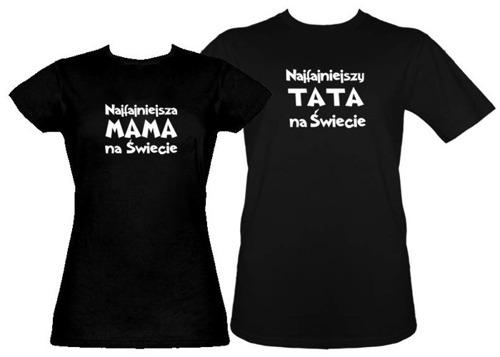 Zestaw koszulka damska + t-shirt Najfajniejsi rodzice