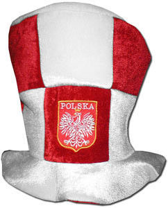 czapka cylinder Polska Kostka