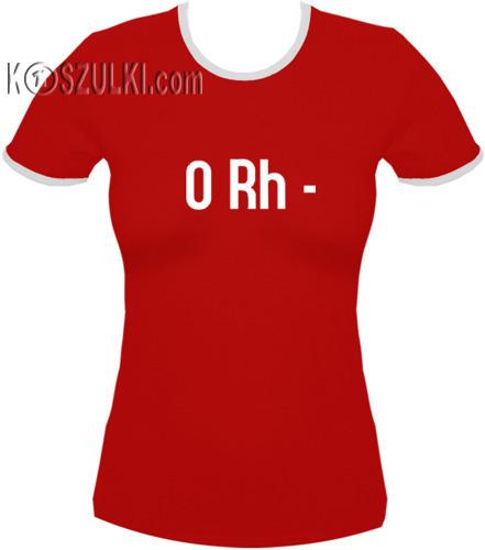 koszulka damska 0rh MINUS- CZERWONA