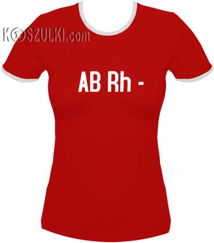 koszulka damska ABrh MINUS- CZERWONA