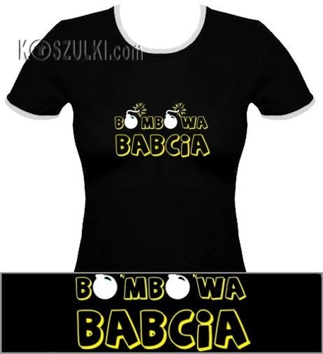 koszulka damska Bombowa Babcia