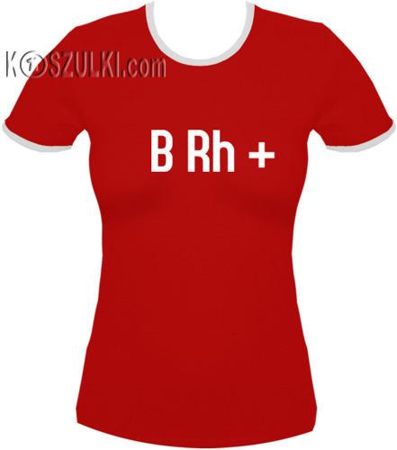 koszulka damska Brh PLUS- CZERWONA