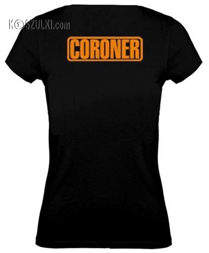 koszulka damska Coroner- CZARNA