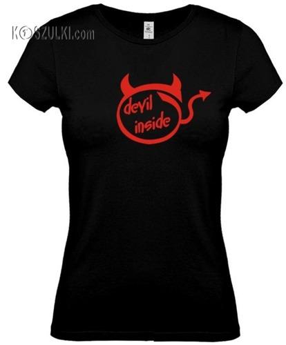 koszulka damska  Devil Inside- CZARNA
