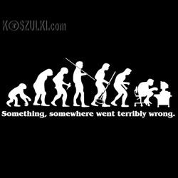 koszulka damska Ewolucja- CZARNA