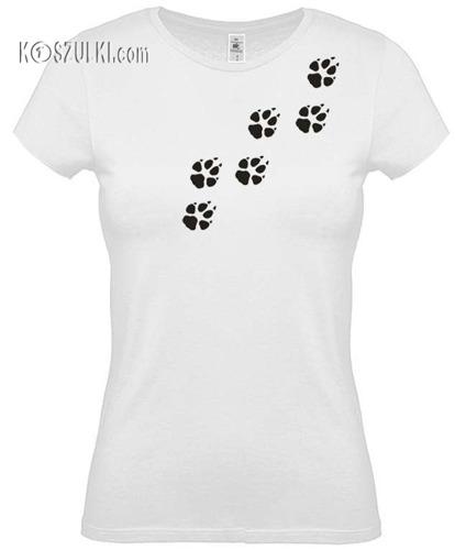 koszulka damska Psie Łapki