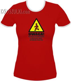 koszulka damska Uwaga