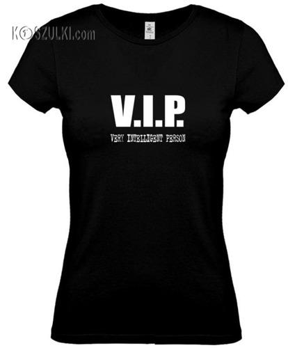 koszulka damska V.I.P.- CZARNA