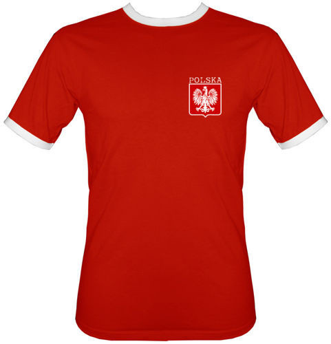 t-shirt 2K Czerwony Polska -własne nazwisko i numer